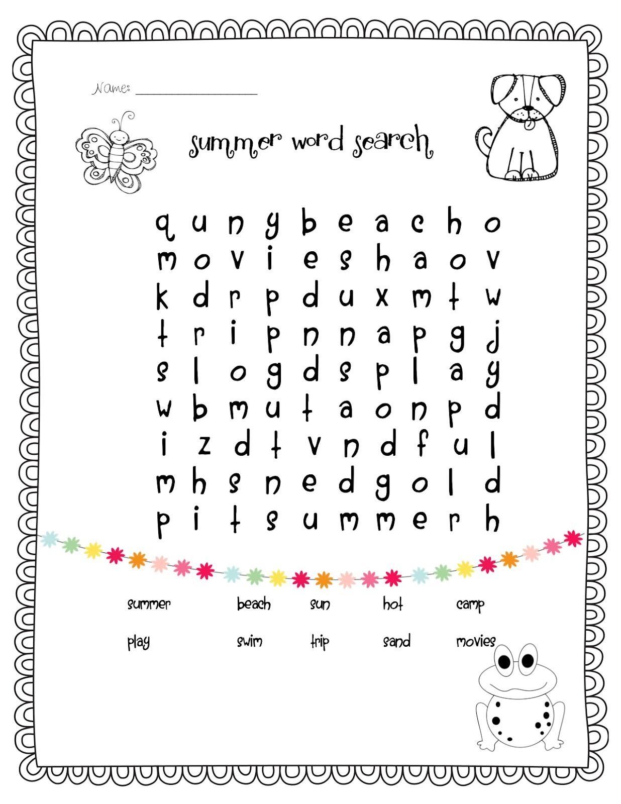 1St Grade Word Search - Best Coloring Pages For Kids