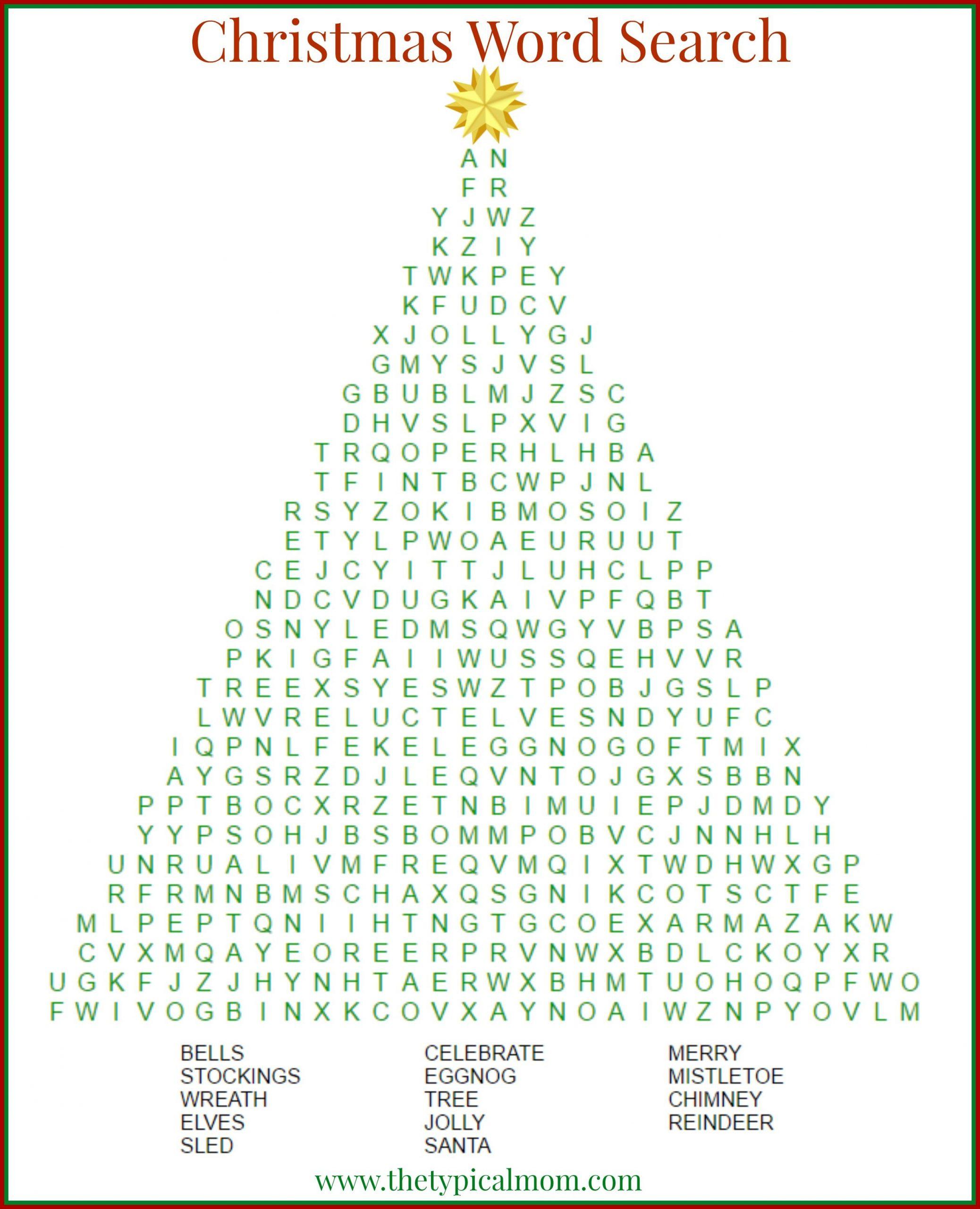 2 Free Christmas Word Search Printables | Christmas Words