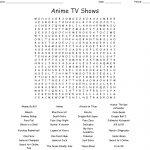 Anime & Manga Crosswords, Word Searches, Bingo Cards   Wordmint