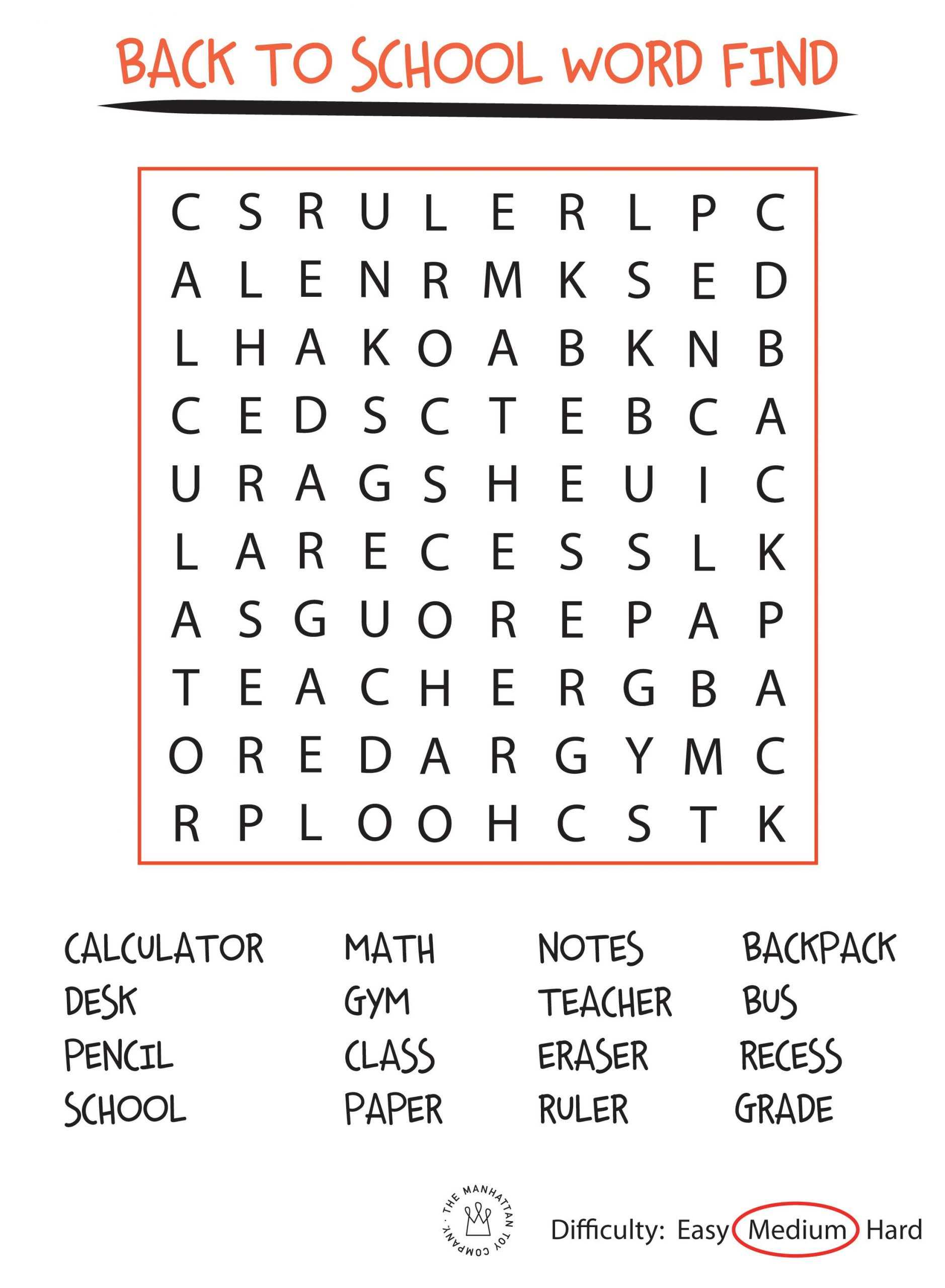 Back To School Word Searches - Yahoo Canada Image Search