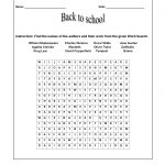 Back To School Worksheets | Word Search Back To School