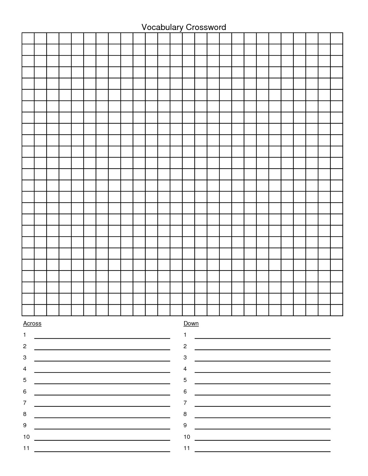 Blank+Crossword+Puzzle+Template | Templates Printable Free