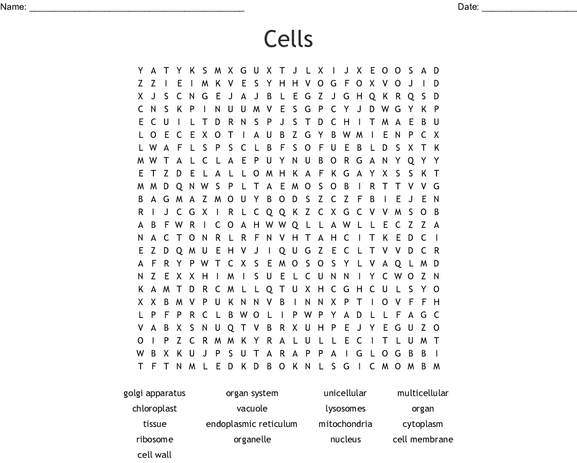 Cells Word Search - Wordmint