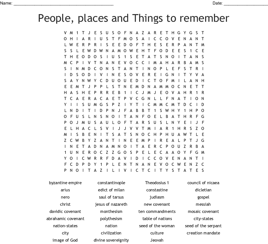 Chapter 1 World History Word Search - Wordmint