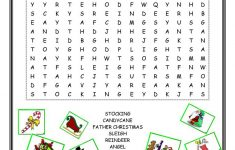 Christmas Wordsearch – English Esl Worksheets For Distance