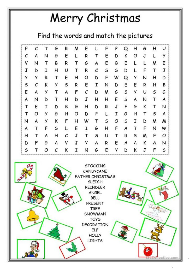 Christmas Word Search Printable For Adults