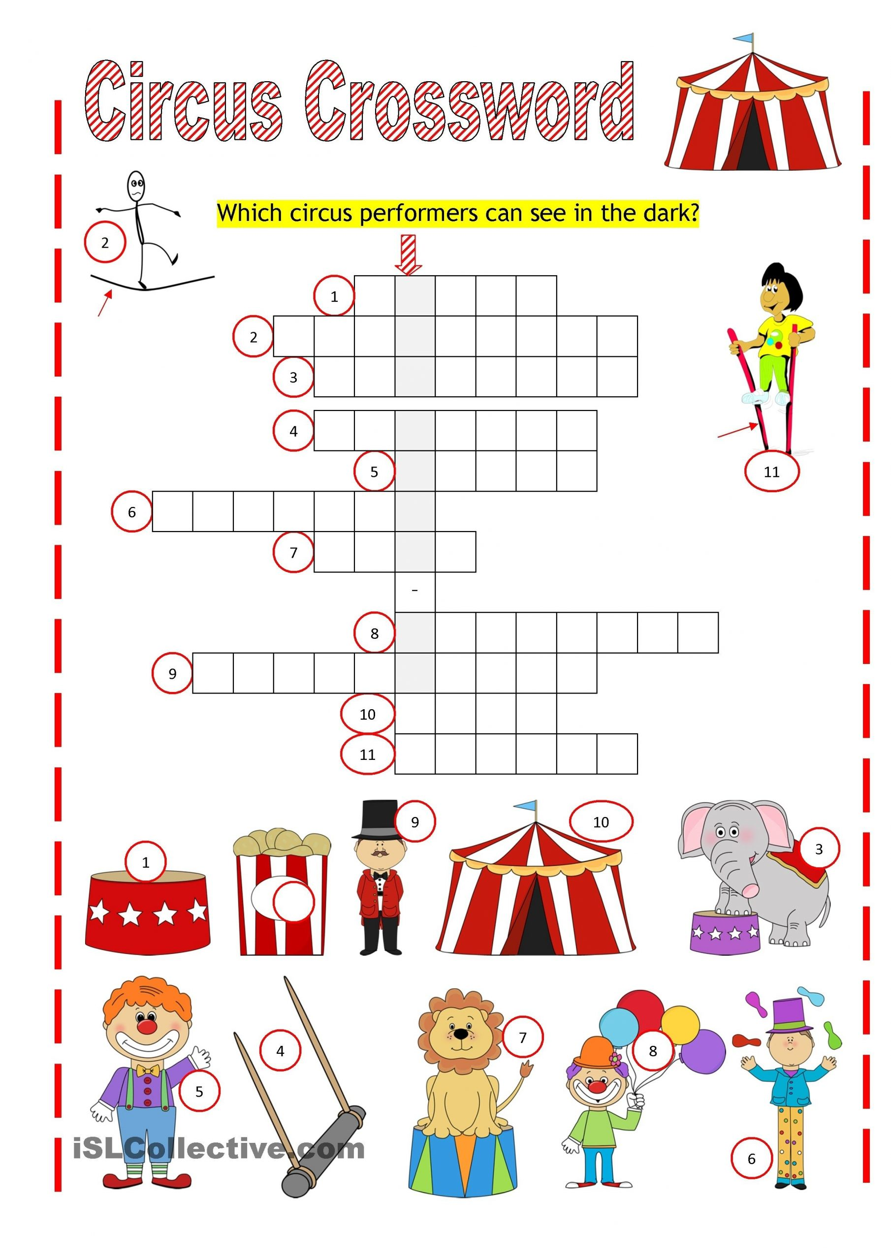 Circus Crossword