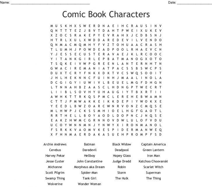 Word Search Book Printable