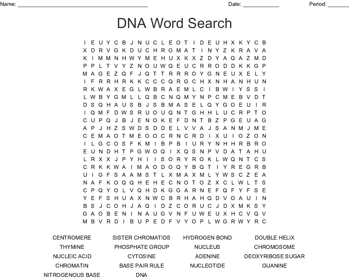 Dna Word Search - Wordmint