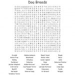Dog Breeds Word Search   Wordmint