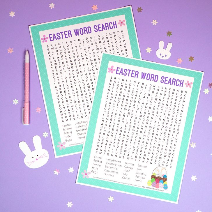 Printable Word Search Easter