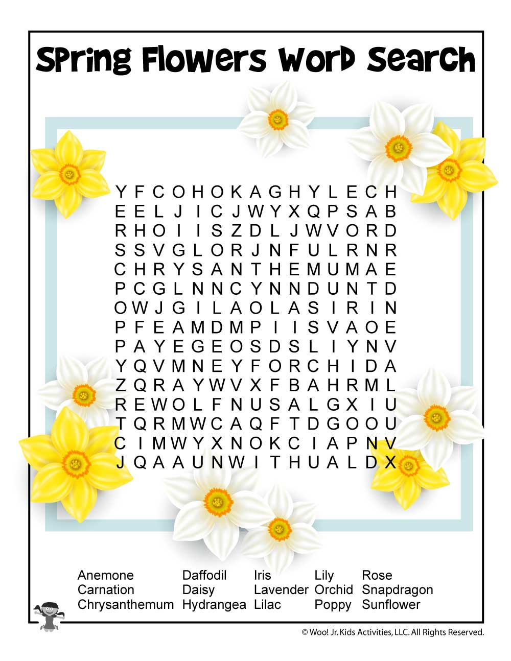 Easy Spring Word Search | Woo! Jr. Kids Activities
