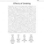 Effects Of Smoking Word Search   Wordmint