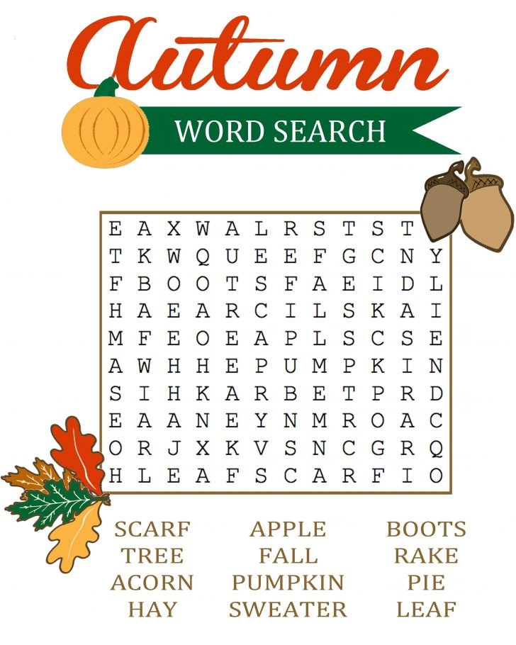 Free Printable Harvest Word Search