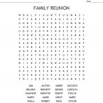 Family Reunion Word Search   Wordmint