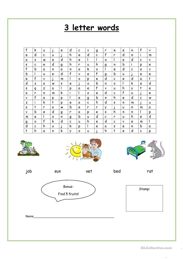 Find The Words! - English Esl Worksheets For Distance