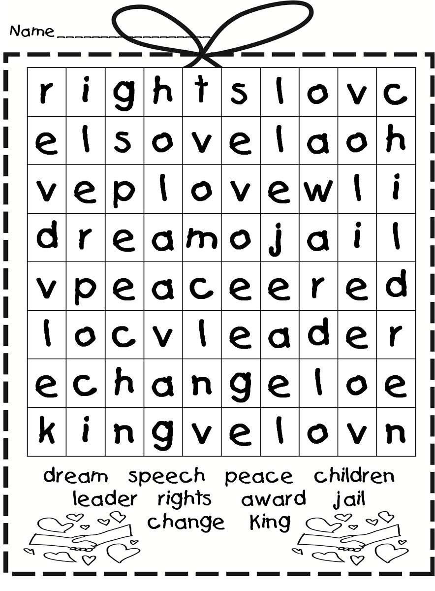 Free Easy Word Search For Kids | Activity Shelter