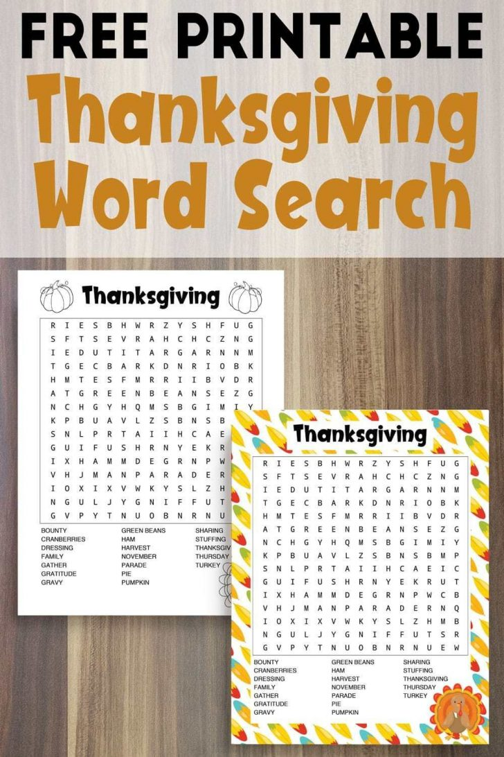Canadian Thanksgiving Word Search Printable