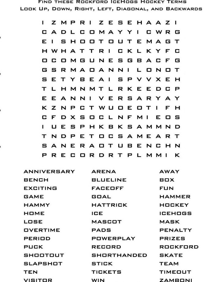 Easy Printable Word Searches For Adults