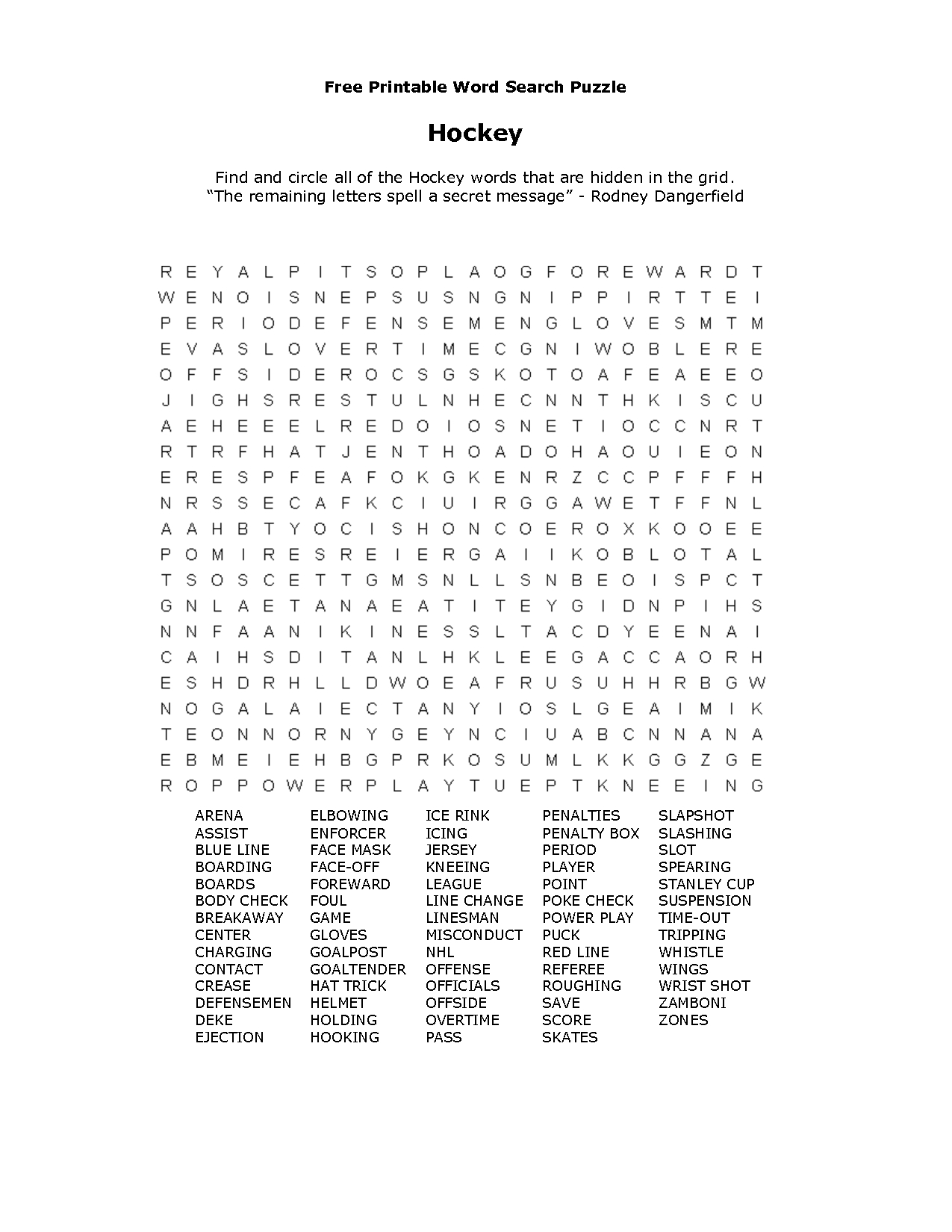 Free Printable Word Searches | Free Printable Word Searches