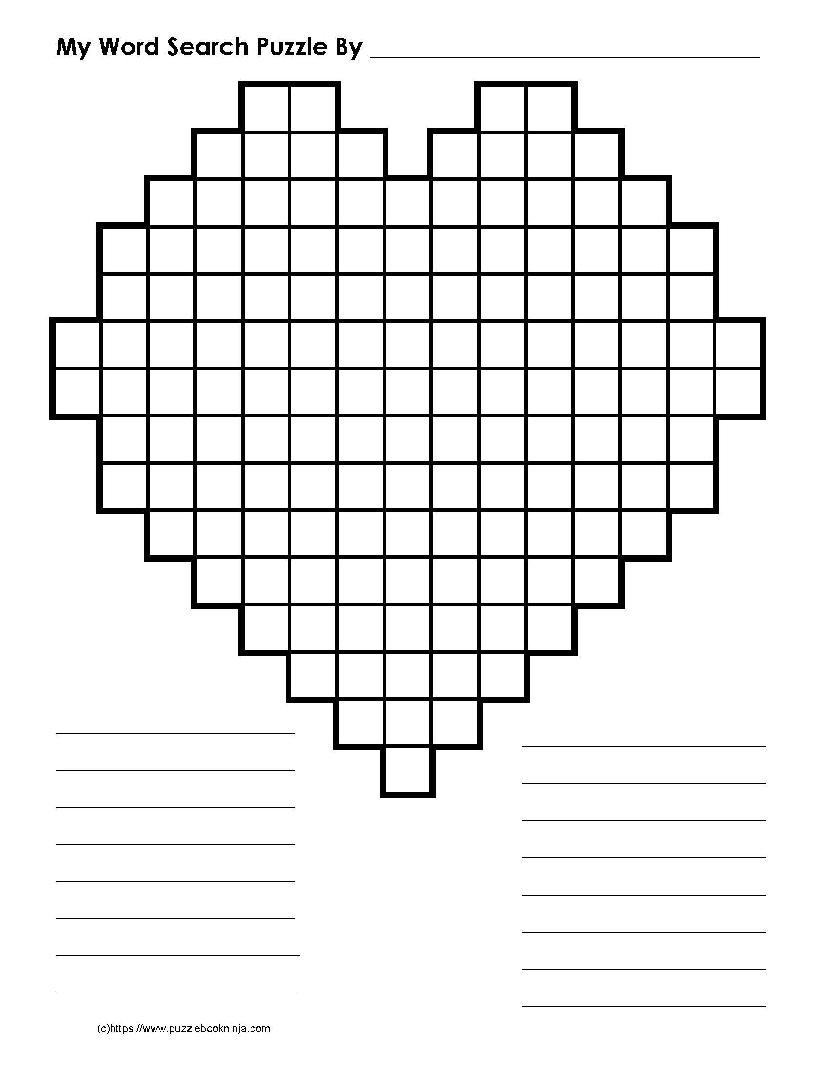 Freebie Blank Word Search Grids! Downloadable, Printable