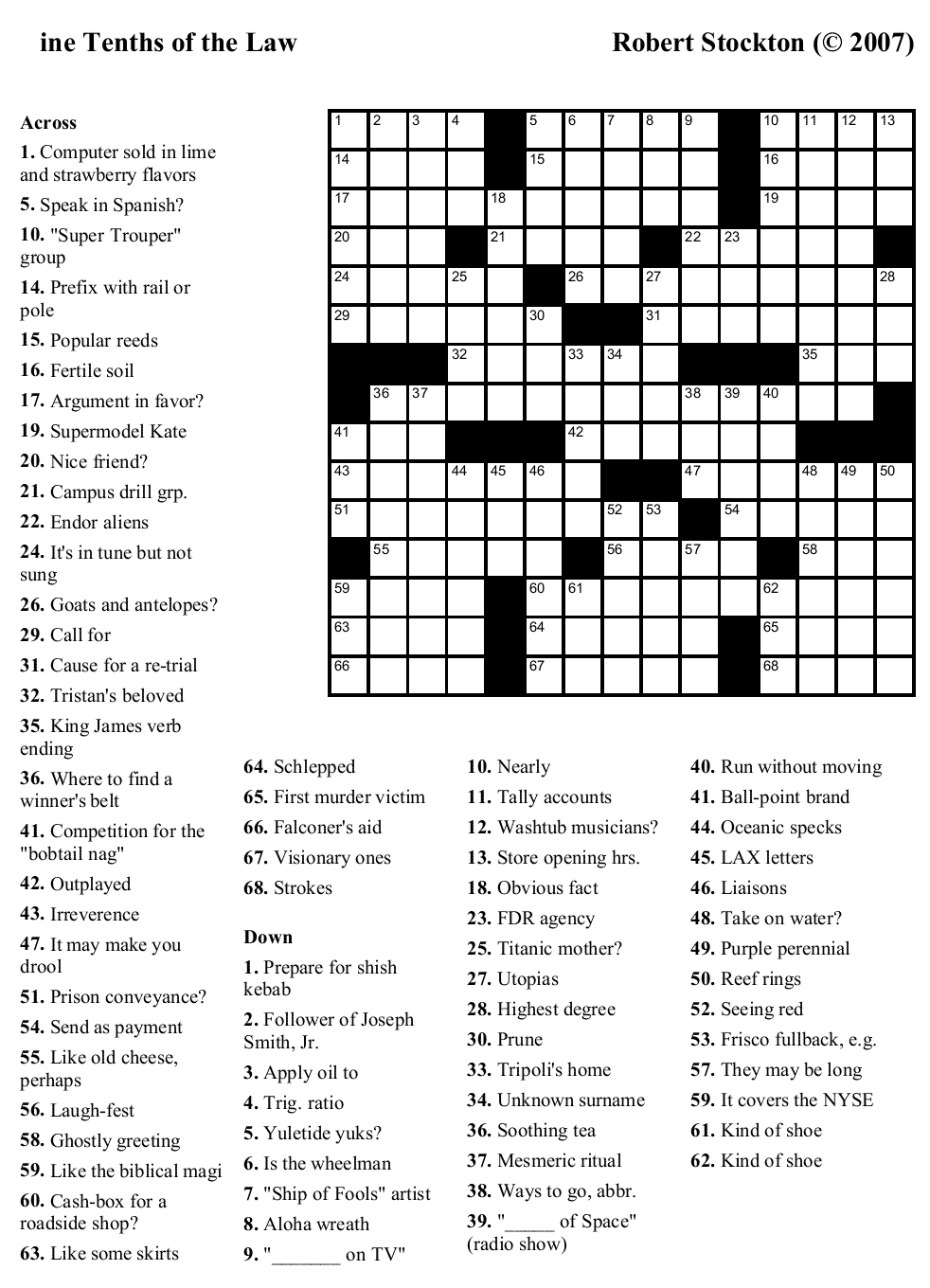 Free+Large+Printable+Crossword+Puzzles | Printable Crossword