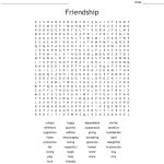 Friendship Word Search   Wordmint