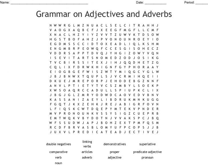 Adverb Word Search Printable