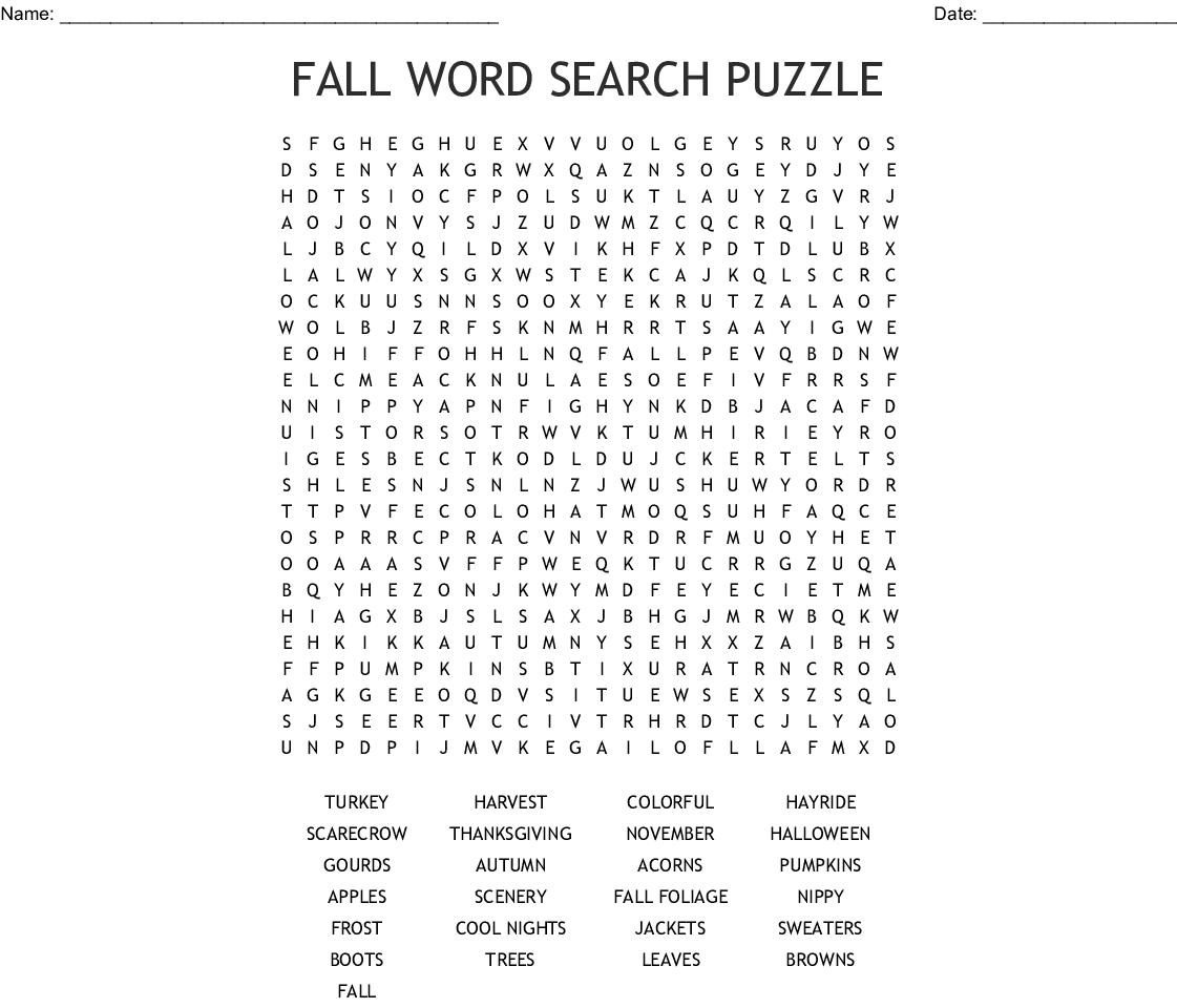 Harvest Crossword - Wordmint