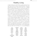 Healthy Living Word Search   Wordmint