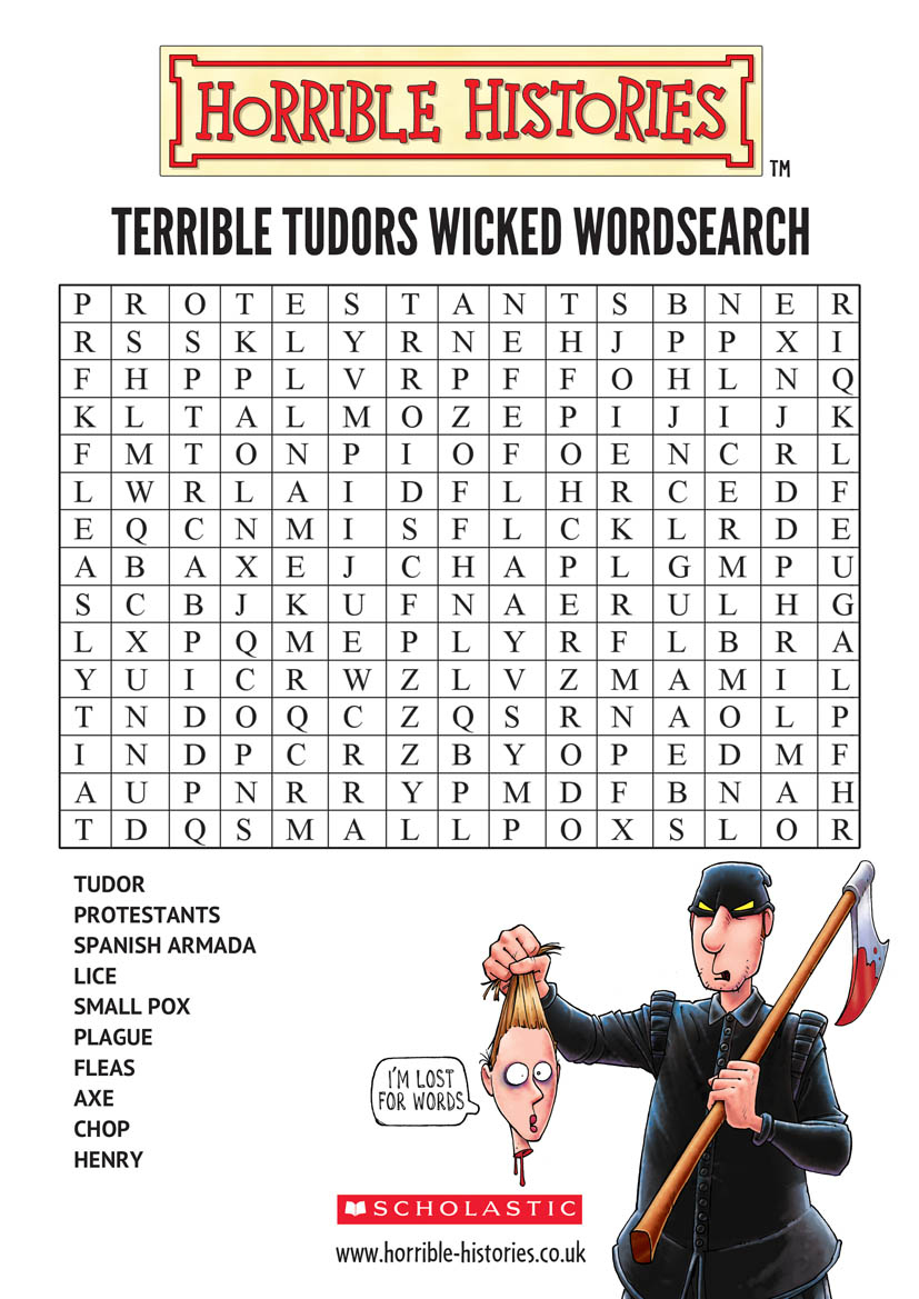 Horrible Histories Wicked Wordsearch - Scholastic Kids' Club