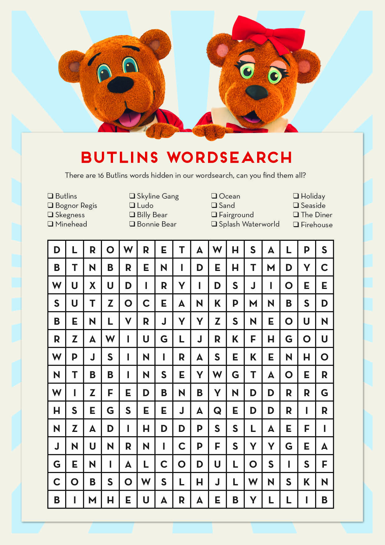 How Good Is Your Eyesight? Can You Find The Butlins Words In
