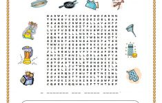 Kitchen Utensils Wordsearch – English Esl Worksheets For
