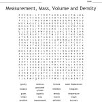 Measurement, Mass, Volume And Density Word Search   Wordmint