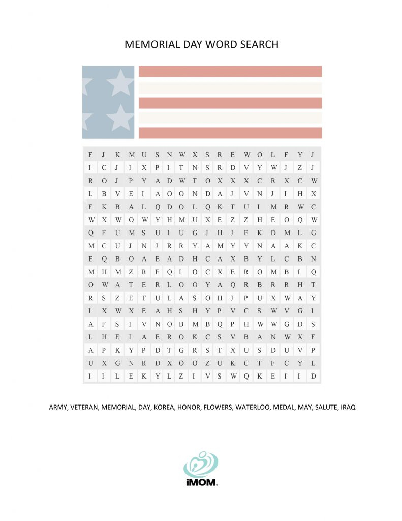 Memorial Day Word Search - Imom