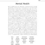 Mental Health Word Search   Wordmint