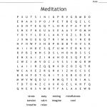 Mindfulness Word Search   Wordmint