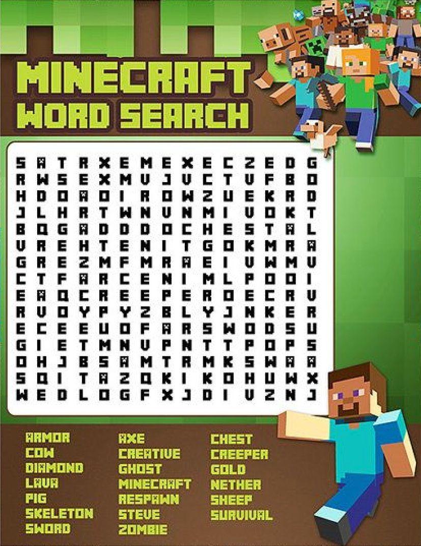 Minecraft Word Search | Minecraft Verjaardagsfeestje
