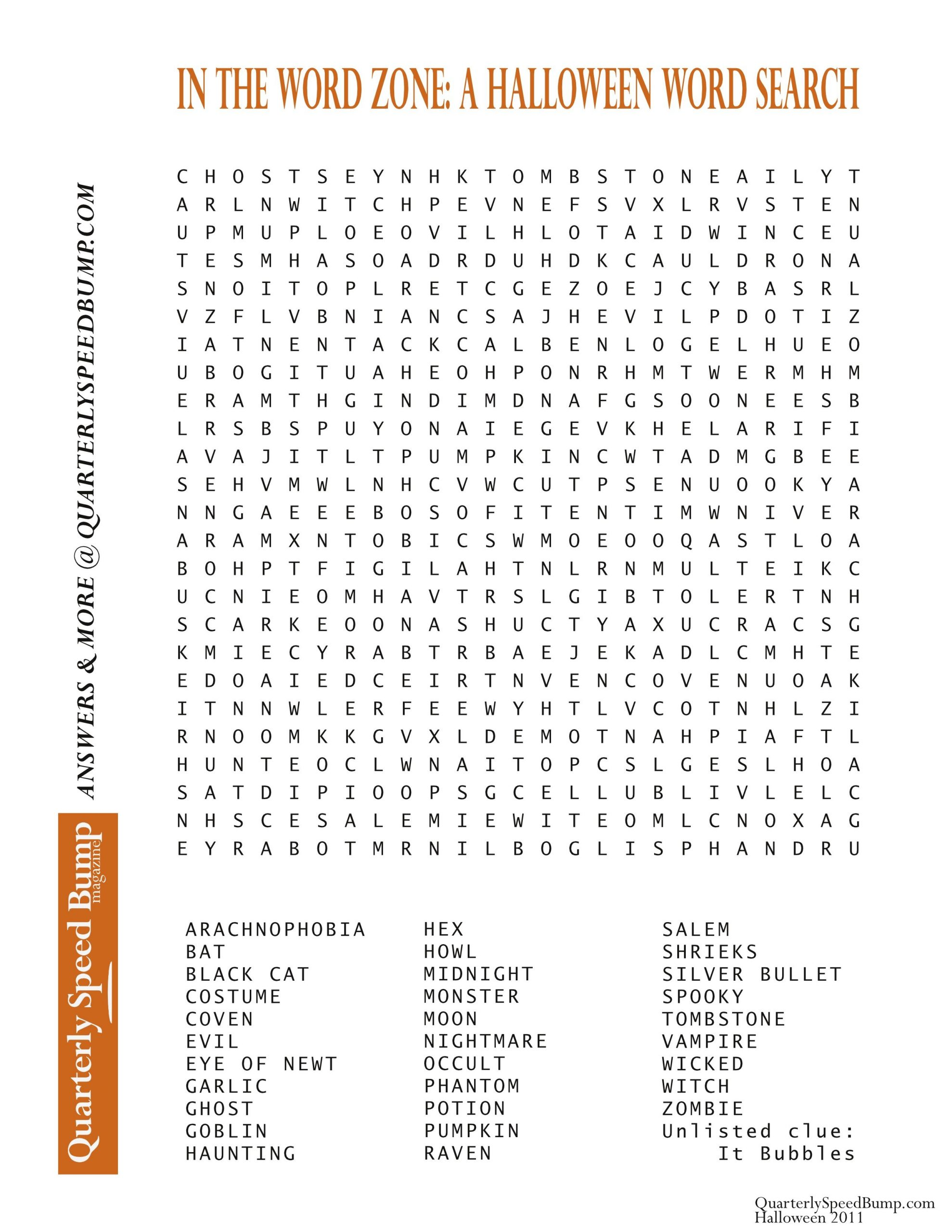 Monster Halloween Word Search Puzzles Printable | Bates's