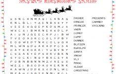 More Printable Christmas Word Searches   North Pole News