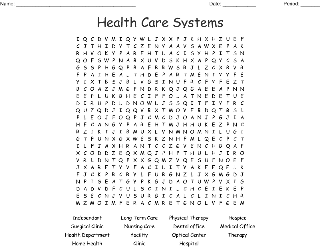 Nursing Week Word Search - Wordmint
