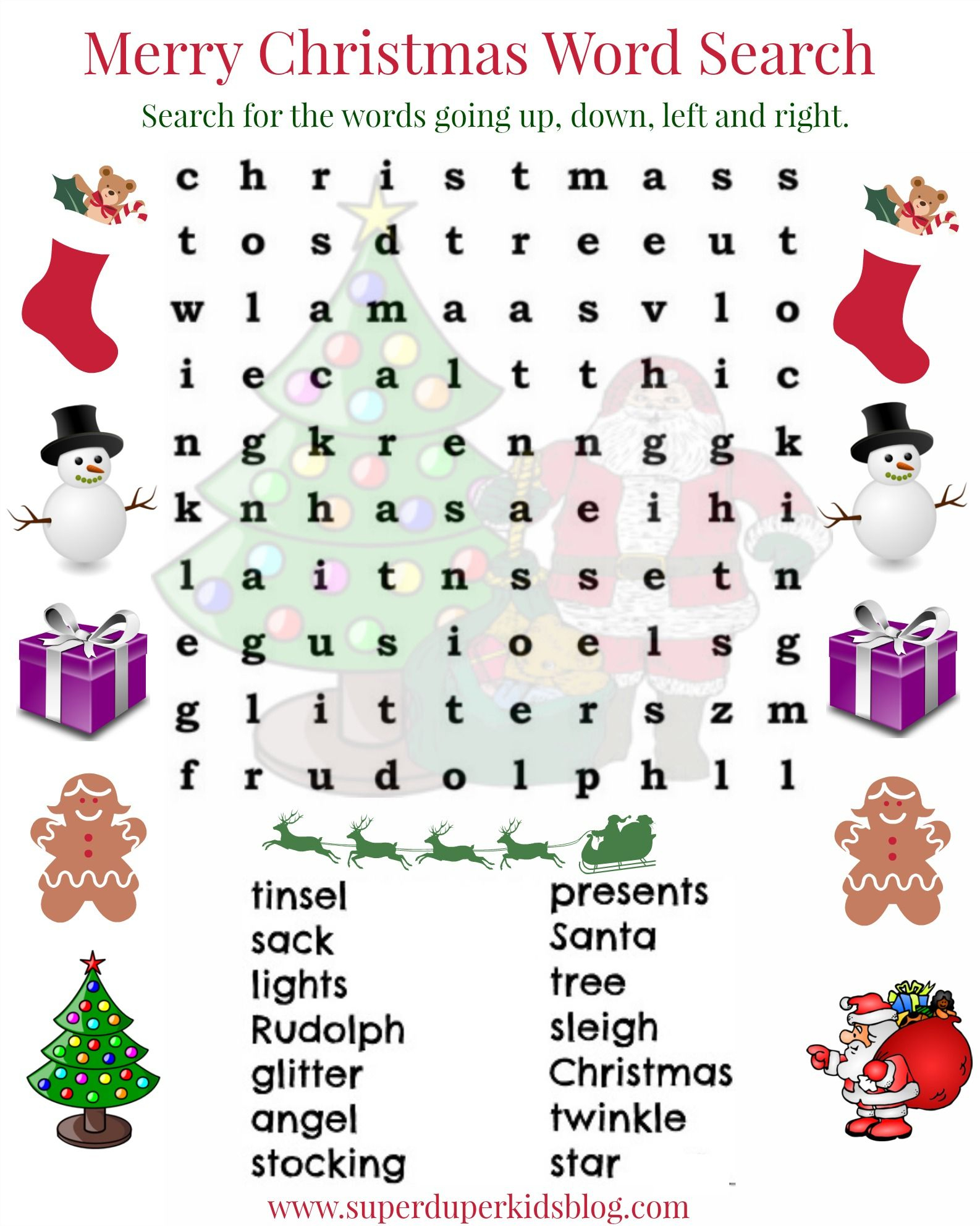 Pinalicia Weibley On Alicia   Christmas Word Search