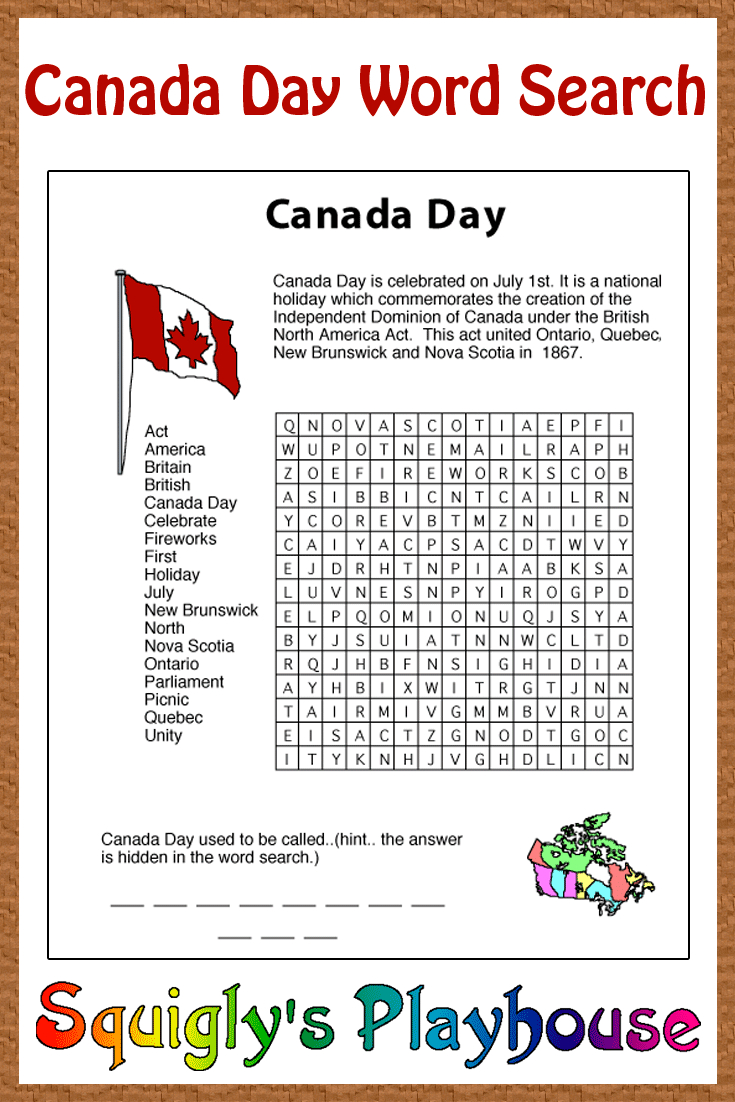 Print This Free Learning Resource For Your Kids. This Canada