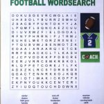 Printable Football Word Search | Activity Shelter