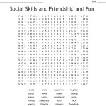 Social Skills And Friendship And Fun! Word Search   Wordmint