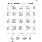 Spanish Thanksgiving Crossword Word Search   Wordmint