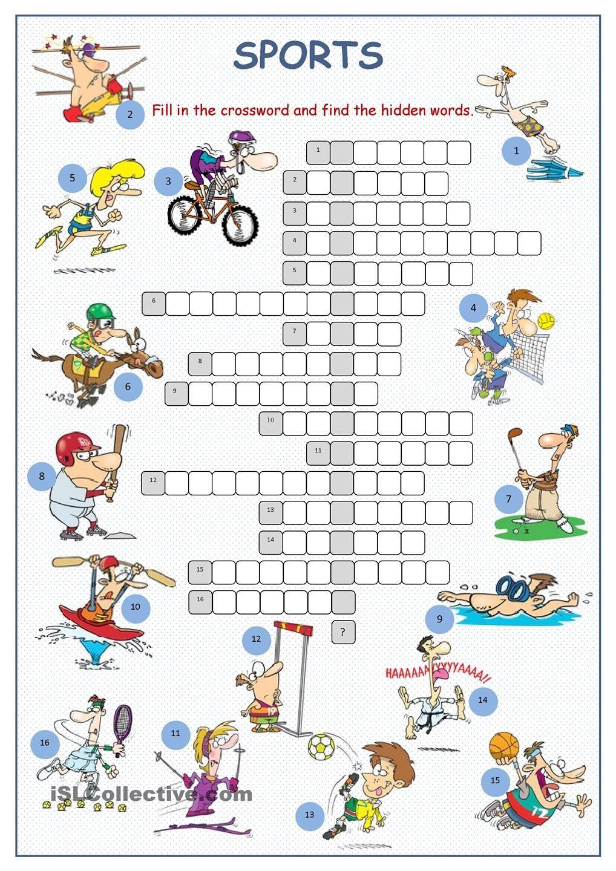 Sports Crossword Puzzle | Sports Crossword, Crossword, Learn