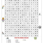 Sports Wordsearch!   English Esl Worksheets For Distance