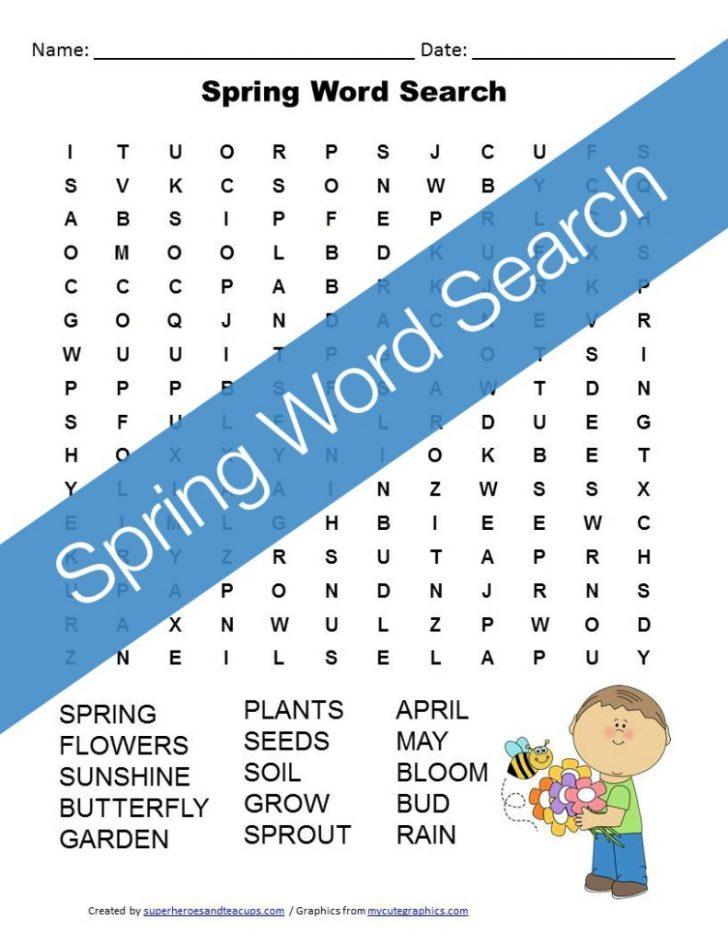 April Word Search Free Printables