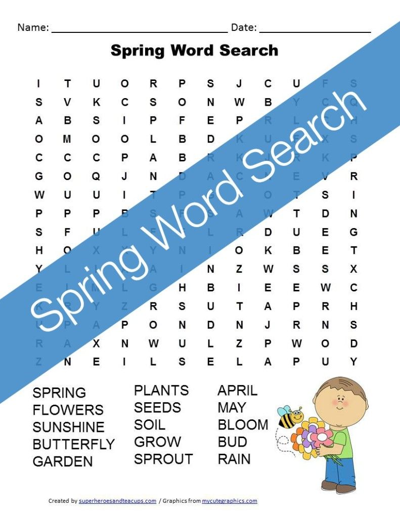 Spring Word Search Free Printable For Kids